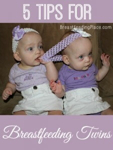 5 Tips for Breastfeeding Twins