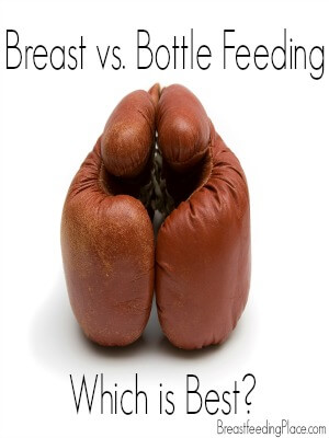 Breast vs. Bottle-feeding    BreastfeedingPlace.com #breastfeeding #bottlefeeding #babyformula