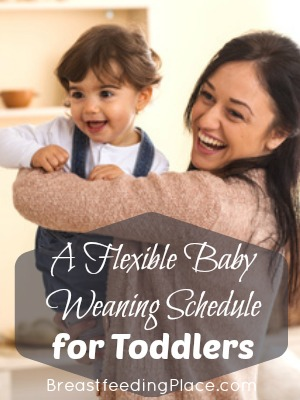 A flexible baby weaning schedule for toddlers.