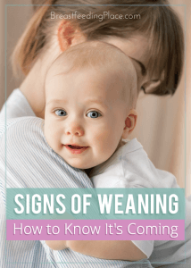 Signs of weaning: how to know it's coming