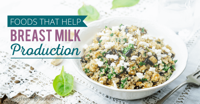 foods that help breast milk production fb
