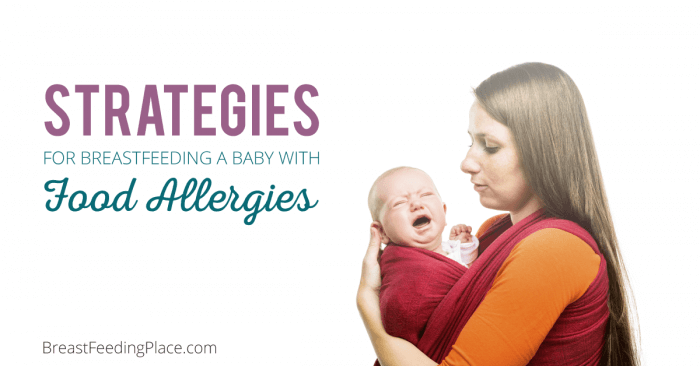 breastfeeding a baby with food allergies